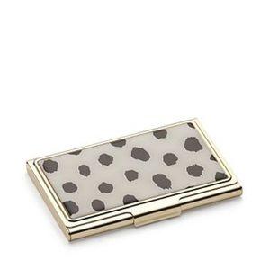 Kate Spade ♠️ Boudoir Chic Flamingo Dot Card Case